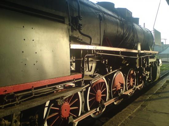 Old Polish engine outside Wagon Club Wroclaw