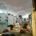 Thunder over Sao Paulo. The days are warm and in late afternoon there will be rain